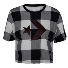 匡威官网正品Converse Buffalo Plaid Star Chevron Easy Crop Tee10007063-A01
