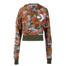 匡威官网正品Converse Rose Camo Cropped Pullover Hoodie10007890-A01