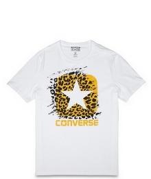匡威官网正品豹纹印花logo短袖T恤14689C102