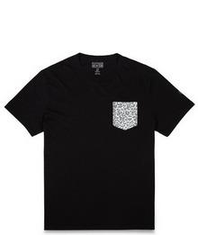 匡威官网正品豹纹贴袋短袖T恤14690C001